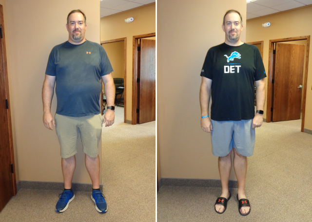 Weight Loss Before and After Shane B
